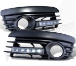 VW Golf 2004-2008 Black Fog Light Sport Grille with LED DRL