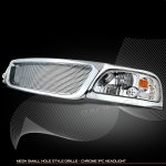 2002 Ford F150 Chrome Grille and Clear Headlights Set