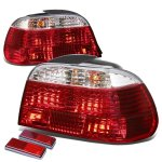 1995 BMW E38 7 Series Red and Clear Euro Tail Lights