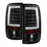 GMC Sierra 2500HD 2007-2014 Black LED Tube Tail Lights