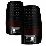 Chevy Tahoe 2000-2006 Black Smoked LED Tail Lights