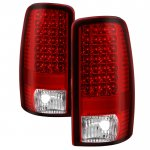 2003 Chevy Tahoe Red Clear LED Tail Lights
