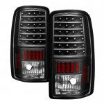 GMC Yukon XL 2000-2006 Black LED Tail Lights
