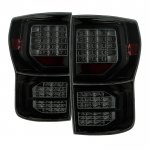 2013 Toyota Tundra Black Smoked Full LED Tail Lights