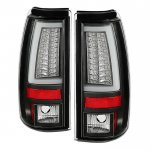 Chevy Silverado 1999-2002 Black LED Tail Lights White Tube