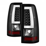 2000 Chevy Silverado Black LED Tail Lights C-Tube