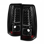 2000 GMC Sierra Black LED Tail Lights C-DRL