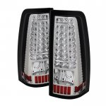 2002 Chevy Silverado Clear LED Tail Lights C-DRL
