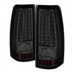Chevy Silverado 3500 1999-2002 Smoked LED Tail Lights C-DRL