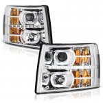 2013 Chevy Silverado 2500HD Halo LED DRL Projector Headlights