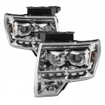 2010 Ford F150 Halo Projector Headlights LED DRL