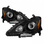 Nissan Altima Sedan 2013-2015 Black Projector Headlights