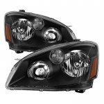 Nissan Altima 2005-2006 Black Headlights