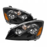 Nissan Altima 2005-2006 Black HID Headlights