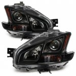 Nissan Maxima 2009-2014 Black Headlights
