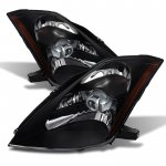 Nissan 350Z 2003-2005 Black HID Headlights