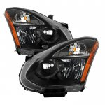Nissan Rogue 2008-2014 Black Headlights