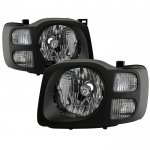 Nissan Xterra 2002-2004 Black Headlights