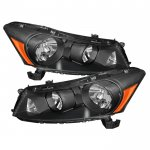 2011 Honda Accord Sedan Black Crystal Headlights