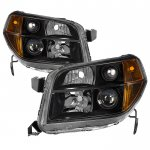 Honda Pilot 2006-2008 Black Headlights