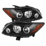 Scion tC 2008-2010 Black Headlights