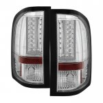 2013 Chevy Silverado 2500HD Chrome L-Custom LED Tail Lights