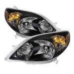 2005 Toyota Matrix Black Headlights
