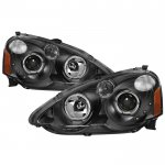 Acura RSX 2002-2004 Black Projector Headlights