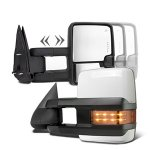 Chevy Silverado 2500HD 2003-2006 White Towing Mirrors LED Lights Power Heated