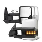 Chevy Silverado 2500HD 2003-2006 White Towing Mirrors Smoked LED Lights Power Heated