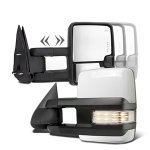 Chevy Silverado 2500HD 2003-2006 White Towing Mirrors Clear LED Lights Power Heated