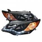 Toyota Camry 2012-2014 Black Projector Headlights with LED