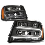 Chevy TrailBlazer 2005-2009 Black Projector Headlights LED DRL