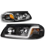 Chevy Impala 2000-2005 Black Headlights Tube DRL