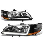 Honda Accord 1998-2002 Black Headlights Tube DRL