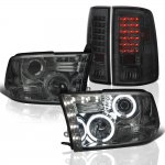 2010 Dodge Ram 3500 Smoked Halo Projector Headlights and LED Tail Lights