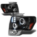 2009 Ford F150 Black Halo Projector Headlights