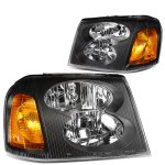 GMC Envoy 2002-2009 Black Headlights