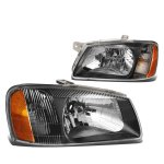 Hyundai Accent 2000-2002 Black Headlights
