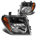 Nissan Pathfinder 2005-2007 Black Headlights