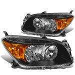 Toyota RAV4 2006-2008 Black Headlights