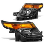 Ford Explorer 2011-2015 Black Projector Headlights