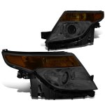 Ford Explorer 2011-2015 Smoked Projector Headlights