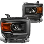 GMC Sierra 2014-2015 Black Projector Headlights