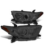 Toyota Highlander 2011-2013 Smoked Projector Headlights