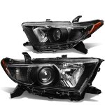 Toyota Highlander 2011-2013 Black Projector Headlights