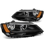 2015 VW Jetta Sedan Black Headlights