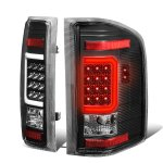 2007 Chevy Silverado Black LED Tail Lights C-Tube