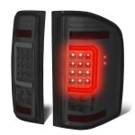 2007 Chevy Silverado 2500HD Smoked LED Tail Lights C-Tube