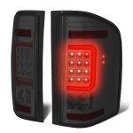 2013 Chevy Silverado 2500HD Smoked LED Tail Lights Red C-Tube